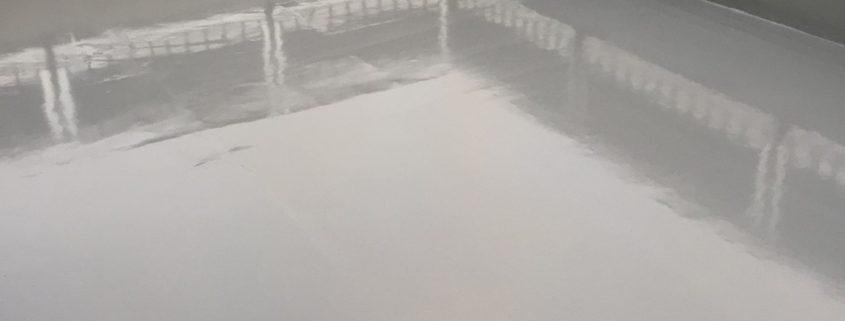 屋上の防水工事(ウレタン防水・通気緩衝工法)