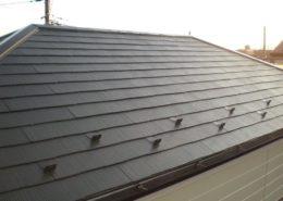 屋根の上塗り後