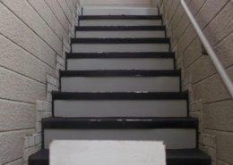 鉄階段の塗装工事
