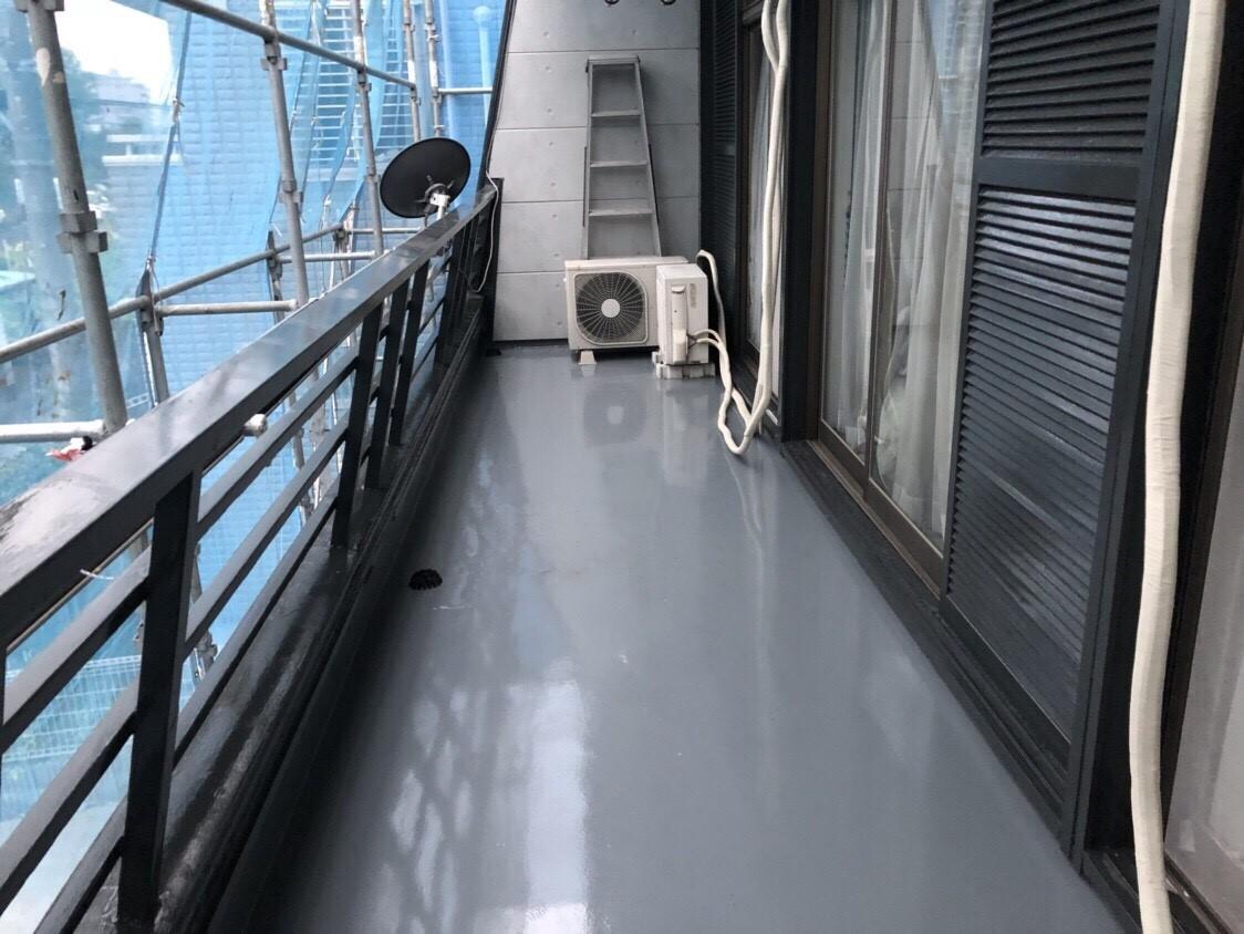 排水ドレンからの雨漏りによるベランダ防水工事(ウレタン密着工法) 埼玉県川口市にお住いのT様邸の雨漏り修理