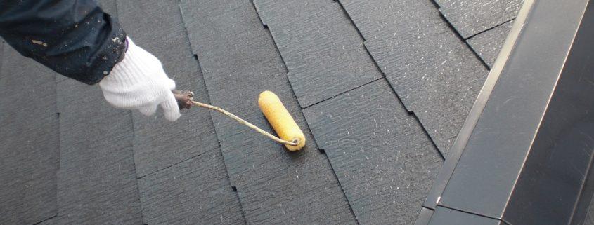 屋根の下塗り(シーラー)