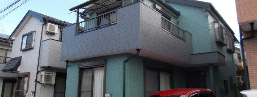 外壁の2色分け塗装