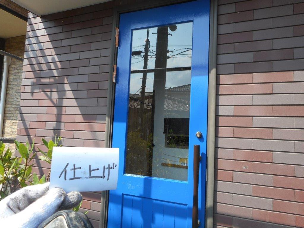 木部(ドア)の仕上げ塗装