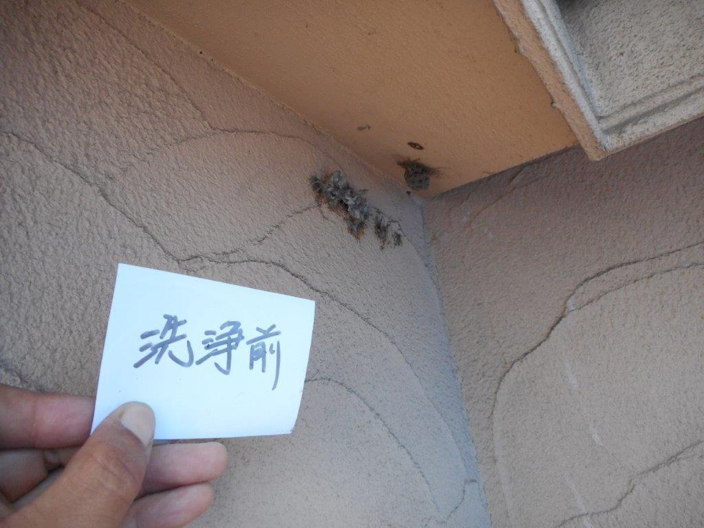 外壁の高圧洗浄前
