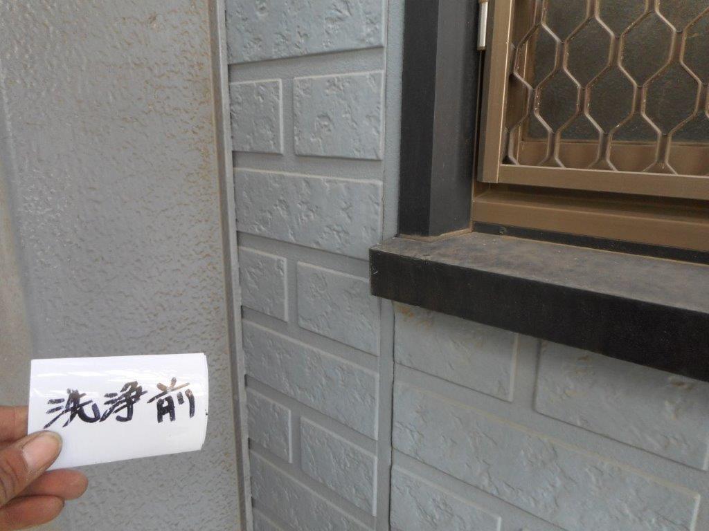 外壁の洗浄前
